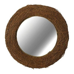 Kenroy Home - Kenroy Home 60204 Harvest Round Wall Mirror - Kenroy Home 60204 Harvest Round Wall MirrorThis Harvest round wall mirror offers chic country charm with its natural rattan frame. Hang this wall mirror in your space to add character and a finished look.Kenroy Home 60204 Features: