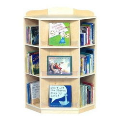 Guidecraft Corner Book Nook - This book nook saves space by utilizing corners in a functional way. It holds books on three sides for optimal storage.