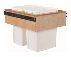 "Century Components - Century Components 35 Qt White Double Top Mount Pull Out Waste Bin - Birch, 18"" - 35 Qt White Double Top Mount Kitchen Pull Out Waste Bin Container - 18""W x 17-7/8""H x 22-1/2""D. This unit is designed to be inserted into a new or existing cabinet with a minimum opening width of 18"". Features (2) 35 Quart waste bin containers. Century Components CASTM17PF is made from Baltic Birch with Dovetail Construction with a clear natural finish for great appearance, quality and durability."