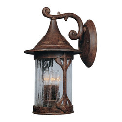 "Designers Fountain - Designers Fountain Canyon Lake Outdoor Wall Mount Light Fixture in Chestnut - Shown in picture: 11"" Cast Wall Lantern in Chestnut finish"