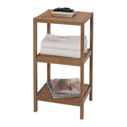 CreativeWare Home - Eco Style Bamboo 3 Shelf Tower - 14.5 in. W. x 28.5 in. H x 13 in. D. Environmentally sound bamboo. Decorative . Use in any room of the home. Easy Assembly hardware included