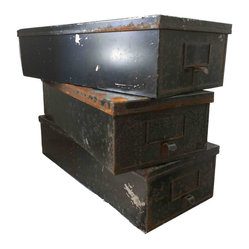 Metal Rustic Bins