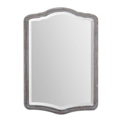 Amedea Aged Wood Mirror - Aged Wood Finish Accented With A Light Gray Wash.
