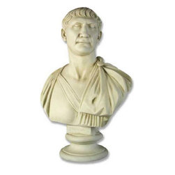 Orlandi Statuary - Traiano Garden Statue Multicolor - FDS105 - Shop for Statues and Sculptures from Hayneedle.com! Bring an image from ancient Rome into your garden with the Elio Caesar Garden Statue. The fiber glass resin that creates this statue is resilient enough to keep all the crafted details intact for years to come. From the creases above his eyes to the folds in his robe and his name on the base you can see the detail that graces this statue. Whether under a tree or on a pedestal this bust is quite the eye catcher.About Orlandi StatuaryBorn in 1911 when Egisto Orlandi traveled from Lucca Italy to Chicago Illinois Orlandi Statuary quickly set the standard for excellence in their industry. Egisto took great pride in his craft and reputation and which is why artists interior designers and museums relied upon the careful details and impeccable quality he demanded. Over the years they've evolved into a company supplying more than statuary. Orlandi's many collections today include fiber stone for the garden religious statuary fountains columns and pedestals. Their factory and showroom are still proudly located in Chicago where after 100 years they remain an industry icon.