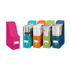 Whitmor Plastic Magazine Organizers - Keep your magazines and patterns organized and at-the-ready in these colorful files. Fill your bookcase and never deal with toppling magazine stacks again.