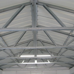 Temloc Building Photos - Another example of our roof trusses. They are preassembled in halves to cut down on installation time.
