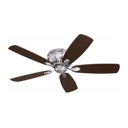 Emerson - Emerson Prima Snugger Ceiling Fan in Brushed Steel - Emerson Prima Snugger Model CF905BS in Brushed Steel with Reversible Dark Cherry/Chocolate Finished Blades.
