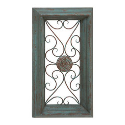 Benzara - Wood Metal Wall Panel 36in.H, 20in.W Wall Decor - Size: 20 Wide x 4 Depth x 36 High (Inches)