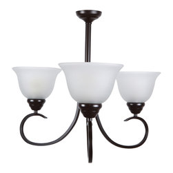 Yosemite Home Decor - 3 Lights Chandelier in Oil Rubbed Bronze - Feature: