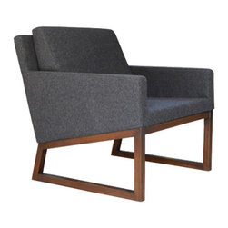 sohoConcept - Nova Wood Arm Chair - Nova is a simply designed contemporary occasional chair with a comfortable upholstered seat and backrest. Nova chair can be ordered in several of other material and color options as a special order with no minimum quantity required. Nova is a perfect design solution for both residential and commercial use.