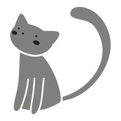 My Wonderful Walls - Cat Stencil 5 for Painting - - 2-piece cat stencil