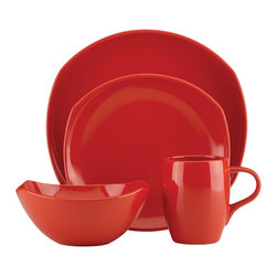 Dansk - Dansk Classic Fjord Chili Red 16-piece Dinnerware Set - The Dansk Classic Fjord 16-piece dinnerware set will spice up your table setting with chili red flair. Each stoneware piece features an exquisite Dansk design with practical functionality for everyday use.