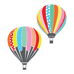 Dana Decals - Hot Air Balloons Wall Decal - Ideal for homes, kids rooms, and schools.