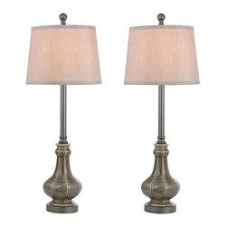 Dimond - One Light Georgia Grey Glaze Bavaria Grey Shade Floor Lamp - One Light Georgia Grey Glaze Bavaria Grey Shade Floor Lamp