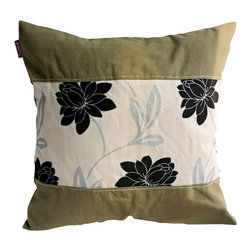 Blancho Bedding - Realm Of Flowers Linen Patch Work Pillow Floor Cushion  19.7 by 19.7 inches - Aesthetics and Functionality Combined. Hug and wrap your arms around this stylish decorative pillow measuring 19.7 by 19.7 inches, offering a sense of warmth and comfort to home buddies and outdoors people alike. Find a friend in its team of skilled and creative designers as they seek to use materials only of the highest quality. This art pillow by Onitiva features contemporary design, modern elegance and fine construction. The pillow is made to have invisible zippers, linen shells and fill-down alternative. The rich look and feel, extraordinary textures and vivid colors of this comfy pillow transforms an ordinary, dull room into an exciting and luxurious place for rest and recreation. Suitable for your living room, bedroom, office and patio. It will surely add a touch of life, variety and magic to any rooms in your home. The pillow has a hidden side zipper to remove the center fill for easy washing of the cover if needed.