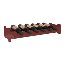 6 Bottle Mini Scalloped Wine Rackt in Pine with Cherry Stain - Decorative 6 bottle rack with pressure-fit joints for stacking multiple units. This rack requires no hardware for assembly and is ready to use as soon as it arrives. Makes the perfect gift for any occasion. Stores wine on any flat surface.