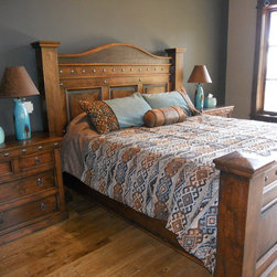 Durango King Size Bed Bed Shown Has A Honey Stain With
