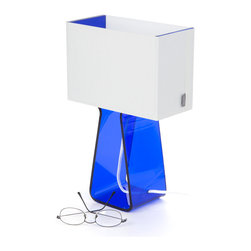 Pablo Designs - Tube Top Table Lamp in Dark Blue - Features: