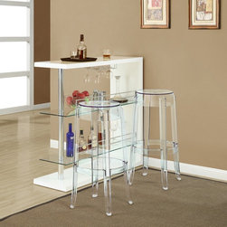 Modway - Casper Dining Chairs Set of 2 in Clear - EEI-906-CLR - Casper Collection Dining Chairs