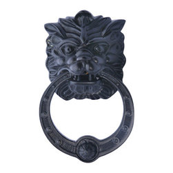 5-Inch Solid Brass Regal Lion Door Knocker - Lion knockers have a traditional feel, but this one feels Victorian, Asian and super cool all at the same time. It's available in polished brass, antique brass or oil-rubbed bronze, and the toughest decision will be which one to choose.