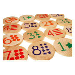 Tree Hopper Toys - Match Stacks - Numbers - A Tree Hopper twist on a classic educational game! MATCH STACKS is a durable, portable, and super cute memory and matching game.