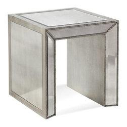 "Basett Mirror - Murano Rectangle End - Murano Rectangle End. 22"" x 24"" x 24"" H"