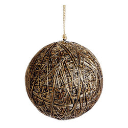Silk Plants Direct - Silk Plants Direct Metallic Yarn Ball Ornament (Pack of 6) - Silk Plants Direct specializes in manufacturing, design and supply of the most life-like, premium quality artificial plants, trees, flowers, arrangements, topiaries and containers for home, office and commercial use. Our Metallic Yarn Ball Ornament includes the following: