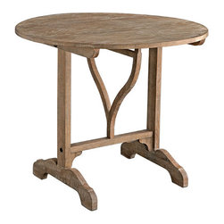 Oak Wood Wine-Tasting Table - Traditionally made for having a meal in the vineyards during harvesting season, the original one of these tables was perfect for gathering people around to taste the wine.