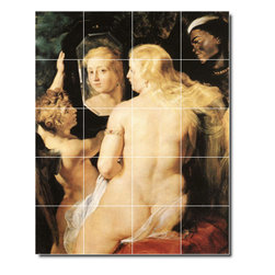 Picture-Tiles, LLC - Venus At A Mirror Tile Mural By Peter Rubens - * MURAL SIZE: 40x32 inch tile mural using (20) 8x8 ceramic tiles-satin finish.