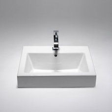 SA1530B - square semi-recessed basin | Blu Bathworks
