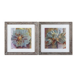 Uttermost - Grace Feyock Sublime Truth Framed Wall Art, Set of 2 - Prints are surrounded by off-white linen mats then encased by reclaimed wood-look frames featuring heavily distressed browns with a heavy taupe and gray glaze. Prints are under glass.