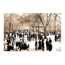 Buyenlarge.com, Inc. - Central Park: Panoramic View of the Mall, c.1902- Gallery Wrapped Canvas Art - Another high quality vintage art reproduction by Buyenlarge. One of many rare and wonderful images brought forward in time. I hope they bring you pleasure each and every time you look at them.