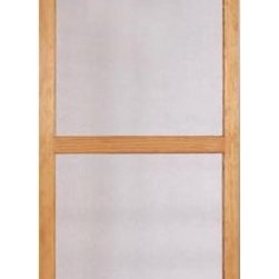 Columbia Mfg. Biltmore Mahogany Wood Screen Door - Let in a breeze in the summer months by attaching a screen door where a storm door might otherwise reside. I'm partial to this substantial number, which feels less like an afterthought than a flimsier screen would be.