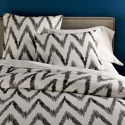 Organic Chevron Duvet Cover - I can't get enough of this modern spin on the chevron stripe.