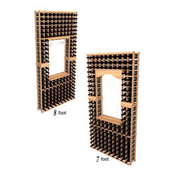 Wine Cellar Innovations - Tasting Center; WineMaker: Rustic Pine Unstained - 7 Ft - This wine racking option is sold to be compatible with the Archway & Table Top option, or a Glass Rack and Table Top Option. This module consists of all the above and below individual wine bottle racking for the unit as pictured. Assembly Required.