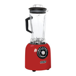 Storebound - Dash Chef Series Blender, Red - With each preset the motor will automatically turn off when the food is ready and the 6 blade system makes it easy to blend even the toughest foods.