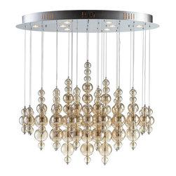 Cyan Design - Cyan Design 05280 Bubbles Cash 8 Light Multi Light Pendant - Features: