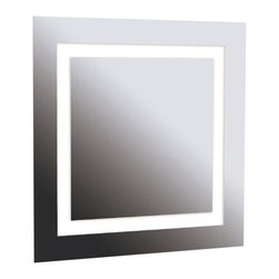 Kenroy - Kenroy 90832 Rifletta Contemporary Vanity Square Mirror - Lights and a mirror in one, Rifletta sits flush with just a 2 inch extension from the wall offering maximum surface in minimal space.  Contemporary and brilliantly lit, this functional design element is available in 3 sleek configurations.