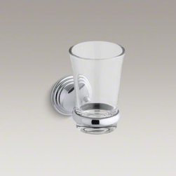 KOHLER - KOHLER Devonshire(R) tumbler and holder - With a striking combination of curves and lines reminiscent of old-world design, Devonshire accessories provide distinctive visual impact for bath and powder rooms. A stylish finishing touch to your bathroom, this combination tumbler and wall-mounted hold