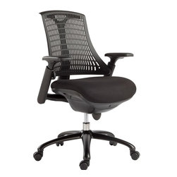 VIG Furniture - Modrest Innovation Modern Black Office Chair - The design of this modern office chair is based on the creator's passion and user's taste. This mesh black office chair is a great accompaniment to any desk. It has a high back rest that will support the back and keep you comfortable for hours at end. With this office chair, you can rest assured that your work will be your top priority.