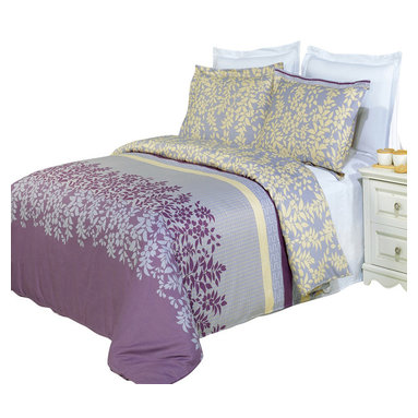 Bed Linens - Brielle Printed Multi-Piece Duvet Set, Full/Queen 4PC Comforter Set - Enjoy the comfort and Softness of 100% Egyptian cotton bedding with 300 Thread count fiber reactive prints.*100% Egyptian cotton *300 Thread count *Reactive Print, lasts longer and looks like real live pictures .