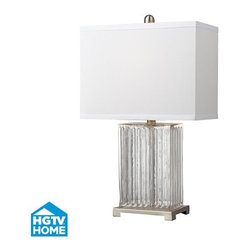 Dimond Lighting - Dimond Lighting HGTV140 HGTV Home Clear Color Table Lamp with Pure White Nylon a - Features: