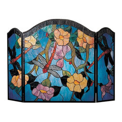 Dale Tiffany - Dale Tiffany Dragonfly Fireplace Screen - Product Details