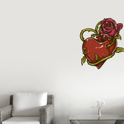 Heart Vinyl Wall Decal HeartUScolor016; 72 in. - Vinyl Wall Decals are an awesome way to bring a room to life!