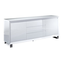 "Creative Furniture - ""Creative Furniture"" Alexia White High Gloss Buffet - Features:"