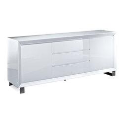 "Creative Furniture - ""Creative Furniture"" Alexia White High Gloss Buffet - Features:"