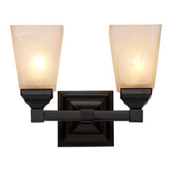 Trans Globe Lighting - 20332 BK 2 Light Bath BarMission Bath Collection - Warm up the house with rustic rectangle shades and bold geometric style. Raised and beveled square sconce wall plate with straight scone arm to compliment hallways, and rustic baths.