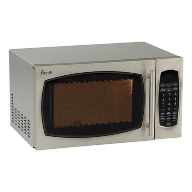 """Avanti - .9 Cubic-Foot 900W Microwave Stainless Steel - Avanti MO9003 Stainless SteelT 0.9 Cubic Foot Microwave Oven with Stainless Steel finish. 900 watts of cooking power, Electronic Control Panel, One Touch cooking progams, Speed Defrost, Cook/Defrost by weight, 99 minute timer, 19""""W x 11""""H x 15.75"""" D, 31 lbs."""