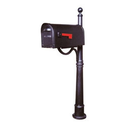 Ashland Mailbox and Post Set - With its traditional ball finial, fluted column, and classic mailbox, this set is the perfect blend of style and craftsmanship.  The heavy duty mailbox is 20 percent thicker than a standard mailbox, and is finished with a durable powder coat.
