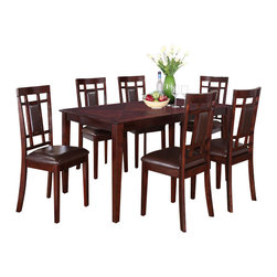 Standard Furniture - Standard Furniture Westlake 7-Piece Dining Room Set in Golden Brown - With its smart transitional styling, Westlake sets the stage for casual everyday dining and dresses up well for family gatherings or entertaining friends.